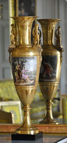 Vase en fuseau en porcelaine Lefèbvre et Caron