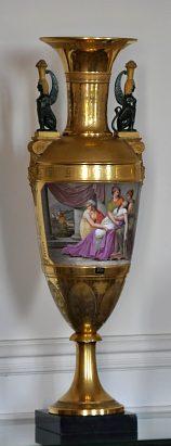Vase en porcelaine de la manufacture Lefebvre & Caron