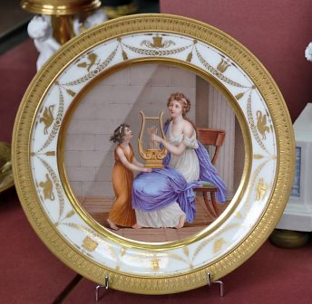 Assiette 1er Empire, Manufacture Nast